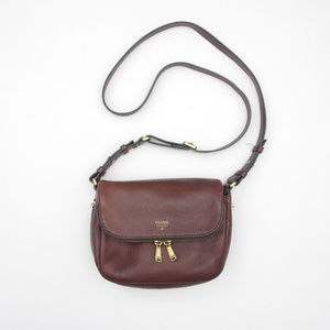 Fossil Preston Flap Crossbody Bag Satchel Leather